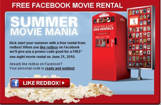 Redbox social media marketing