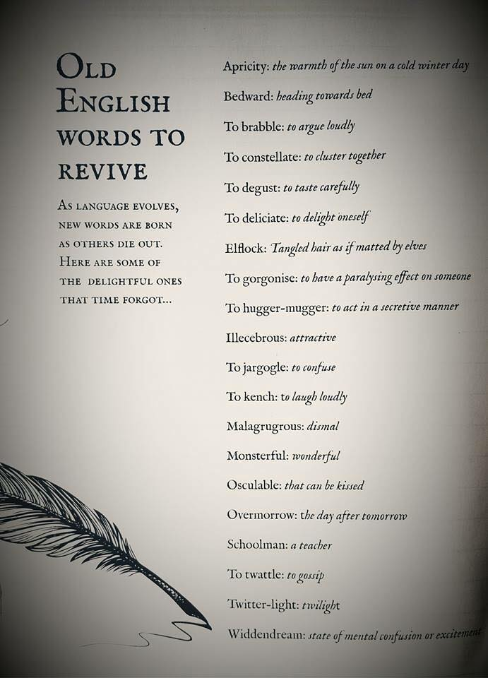 Old English Words to Revive - The Writers For Hire